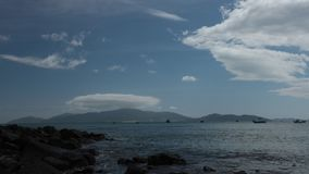 De oceaantijdspanne van de de definitietijd van golven tropische Vietnam hoge stock video
