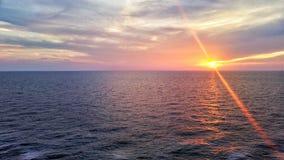 De Oceaanzonsondergang van Miami stock fotografie