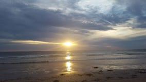 De oceaanzonsondergang Zuid- van Australië Royalty-vrije Stock Foto's