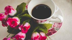 De ochtend is perfect voor uw favoriete koffie, Stock Afbeeldingen