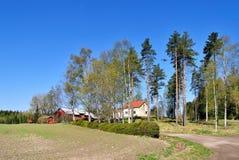 De ochtend van de lente in Finland royalty-vrije stock afbeelding