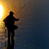 De ochtend van de visser Stock Foto's