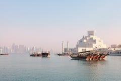 De ochtend van Doha Royalty-vrije Stock Afbeeldingen