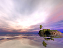 De Ochtend van het Eiland van de kokosnoot Stock Afbeelding
