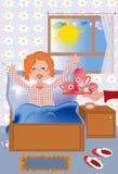 De ochtend van het meisje. Stock Fotografie