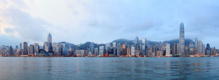 De ochtend van Hongkong Stock Foto's