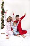 De ochtend van Kerstmis van de familie stock foto