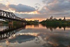 De ochtend van Ottawa royalty-vrije stock foto