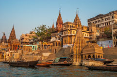 De Ochtend van Varanasi Stock Foto