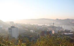 De ochtend van Vladivostok Royalty-vrije Stock Afbeeldingen