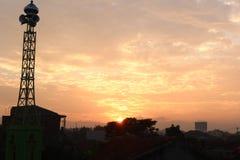 De ochtendzon levert licht geborstelde natuurlijke schoonheid Royalty-vrije Stock Fotografie