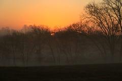 De ochtendzonsopgang van het land Stock Foto's