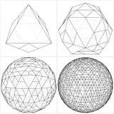 De octaedro a la bola la esfera alinea vector Imagen de archivo libre de regalías
