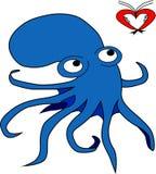 De octopus Royalty-vrije Stock Afbeeldingen