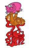 De octopus draagt & varken Royalty-vrije Stock Afbeelding