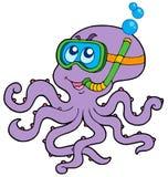 De octopus snorkelt duiker Royalty-vrije Stock Afbeelding
