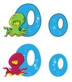 De octopus van de brief O Royalty-vrije Stock Afbeeldingen