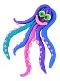 De octopus van de plasticine Stock Foto's