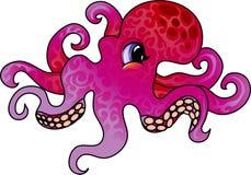 De octopus van het beeldverhaal vector illustratie