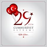 29 de octubre día nacional de la república de Turquía Imagen de archivo
