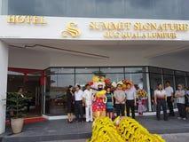 9 de octubre de 2016, camino de Puchong, Kuala Lumpur El hoy es la abertura suave del hotel OUG Kuala Lumpur de la firma de la cu Fotos de archivo