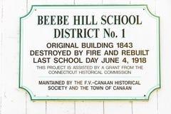 18 de octubre de 2016 - casa de la escuela del sitio de la colina una de Beebe, ciudad de Canaan, CT Foto de archivo libre de regalías