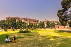 28 de octubre de 2014: Dentro del fuerte rojo en Nueva Deli, la India Fotos de archivo libres de regalías
