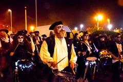 17 de octubre de 2015, desfile de la sociedad de la hoguera de Hastings Fotos de archivo libres de regalías