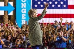 12 de octubre de 2016, el candidato demócrata a la presidencia Hillary Clinton hace campaña en Smith Center para los artes, Las V Foto de archivo