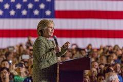 12 de octubre de 2016, el candidato demócrata a la presidencia Hillary Clinton hace campaña en Smith Center para los artes, Las V Imagen de archivo