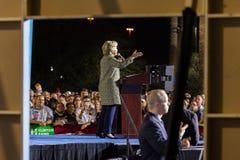 12 de octubre de 2016, el candidato demócrata a la presidencia Hillary Clinton hace campaña en Smith Center para los artes, Las V Imagen de archivo libre de regalías