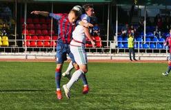 2 de octubre de 2016 equipos del partido de fútbol de Moscú y de Rostov-On-Don Fotografía de archivo