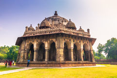 29 de octubre de 2014: Jardines de la tumba del ` s de Humayun en Nueva Deli, adentro Fotografía de archivo