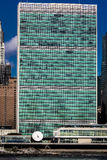 24 de octubre de 2016 - NUEVA YORK - horizonte de Midtown Manhattan visto del East River que muestra los Naciones Unidas que cons Imágenes de archivo libres de regalías