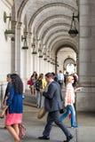2 de octubre de 2014: Washington, DC - gente que viaja a través de la unión Fotografía de archivo