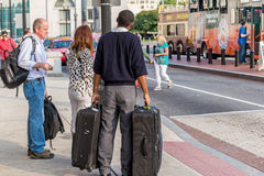 2 de octubre de 2014: Washington, DC - gente que viaja a través de la unión Foto de archivo