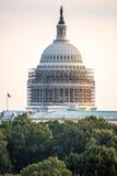 2 de octubre de 2014: Washington, DC - whitehouse con el andamio Fotos de archivo libres de regalías