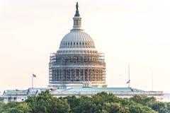 2 de octubre de 2014: Washington, DC - whitehouse con el andamio Imagen de archivo