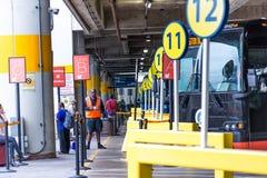 3 de octubre de 2014: Washington, estación de autobúses de la estación de la unión de DC Imagen de archivo libre de regalías