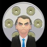 17 de octubre de 2018 - Jair Bolsonaro Candidato de la derecha ilustración del vector