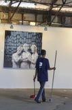 2 de octubre, Tel Aviv - exposición de la foto en el teléfono Aviv-Jaffa, un desconocido Foto de archivo