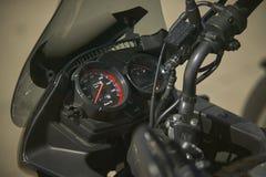 De odometer van een motorfiets stock foto's