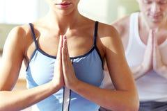 De oefening van de yoga Stock Foto