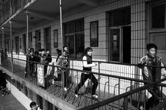 De oefeningen van de evacuatie Stock Foto's