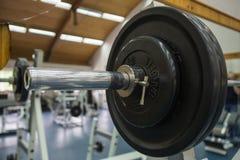 De oefeningsmateriaal van de lichaamsgeschiktheid in de gymnastiek Stock Fotografie