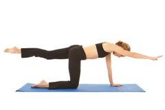 De oefeningsreeks van Pilates Stock Foto