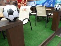 De Oekraïense bar Тribune van het voetbalbier stock afbeelding