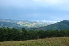 De Oekraïense Karpaten De Borzhava-bergketen stock foto