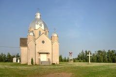 De Oekraïense Katholieke kerk van het kalksteenmeer Stock Afbeeldingen