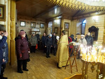 De Oekraïense Orthodoxe Christenen vieren Kerstmis Stock Foto's